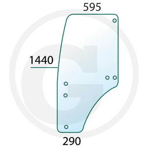 Ukseklaas 5x20 vasak R198624, Granit