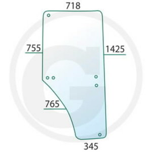 Door glass LH JD L213354, L169102, Granit