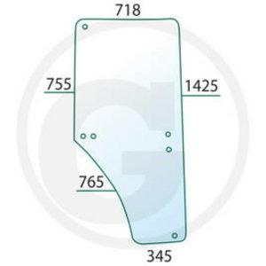 Stikls durvju LH JD L213354, L169102, Granit