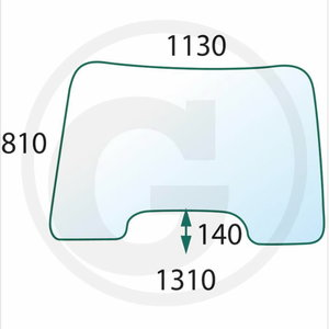 Front glass NH T6020, Granit