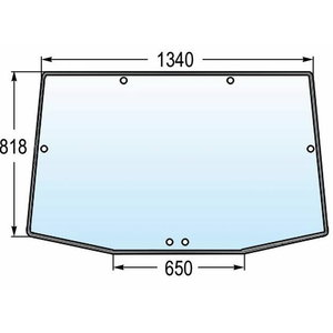 Rear screen R131208, Granit