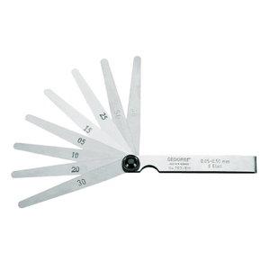 Feeler gauge set, fan pattern 702 20M, Gedore