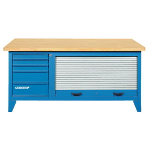 Workbench without tool cabinet B1500L, Gedore