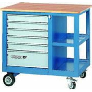 Töölaud ratastel 550 синяя950 синяя870 мм 1502, GEDORE