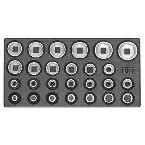 """""""1500 ES-19 modulis su galvutėm 10-32 mm, 1/2"""""""""""", Gedore"""