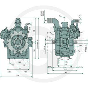 Reverberi pritsi pump AR280bp, Granit