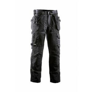 Kelnės su kišenėmis 676 juoda/pilka 50, , Dimex