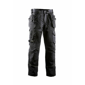 Kelnės su kišenėmis 676 juoda/pilka 54, , Dimex
