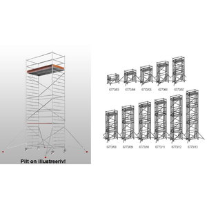 Mobile aluminum scaffolding 6773/, Hymer