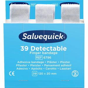 Blue Detectable Finger Bandage, 39 pcs/refill 120 x 20 mm, Cederroth