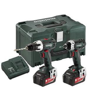 18V Combo set: Drill BS 18 LT + Screwdriver SSD, Metabo