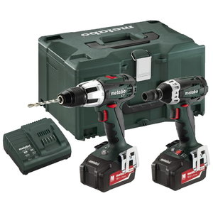 18V Combo set: Impact drill SB 18 LT + Impact wrench SSD, Metabo