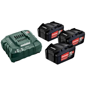 Basic set: 3 x 4.0 Ah + laadija ASC 55 12-36 V, Metabo