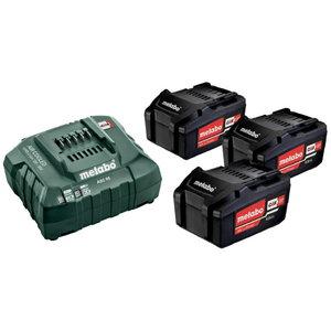Basic set: 3 x 4.0 Ah + charger ASC 55 12-36 V, Metabo