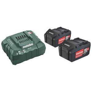 Комплект аккумулятора и зарядного устройства 2 x 4,0 A-ч, METABO