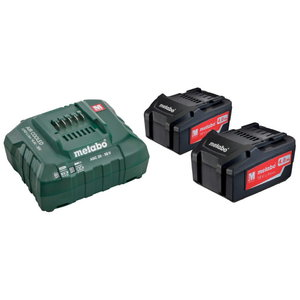 Basic set: 2 x 4.0 Ah + laadija ASC 55, Metabo