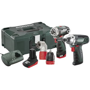 10,8V Combo set: akutrell PowerMaxx BS QuickPro+PowerMaxxSSD, Metabo