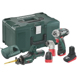 10,8 V Combo: akutrell PowerMaxx Quick Basic + PowerMaxx ASE, Metabo