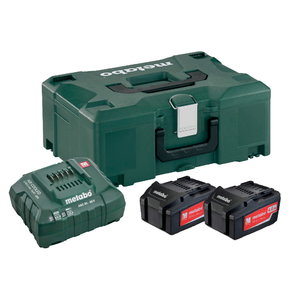 Basic set: 2 x 4.0 Ah + laadija ASC 30-36 + Metaloc kohver, Metabo