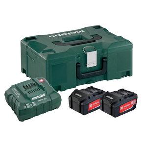 Basic set: 2 x 4.0 Ah + charger ASC 55 + Metaloc, Metabo