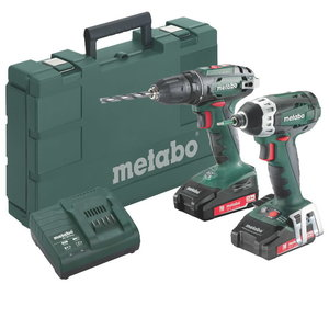 18V Combot: Drill BS 18 + Screwdriver SSD / 2,0 Ah, Metabo