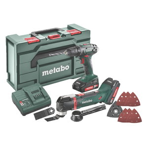 18V Combo: BS18 ak. urbjmašīna + Multinistruments MT 18 LTX, Metabo