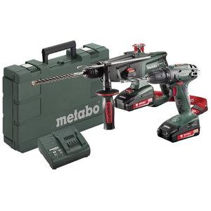 18V Combo: Drill BS 18 + Combination hammer KHA 18 LTX, Metabo