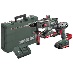 18V Combo: Drill BS 18 + Combination hammer KHA 18 LTX, Metabo