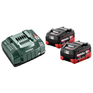 Basic set: 2 x 5.5 Ah LiHD batteries + ASC 145 charger, Metabo