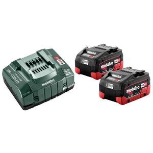 Basic set: 2 x 5.5 Ah LiHD batteries + ASC 145 charger, Metabo