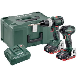 18V Combo set: Drill BS 18 LT BL + Screwdriver SSD 18 BL/4Ah, Metabo