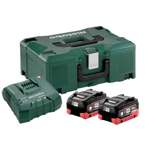 Basic set: 2 x 8,0 Ah LiHD + charger ASC 145+ Metaloc, Metabo