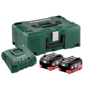 Basic set: 2 x 8,0 Ah LiHD + charger ASC 145+ Metaloc, Metabo