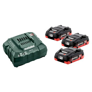 Basic set: 3 x 4.0 Ah LiHD + laadija ASC 55, Metabo