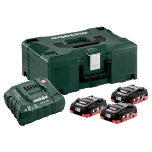 Basic set: 3 x 4.0 Ah LiHD + charger ASC 55 + Metaloc, Metabo