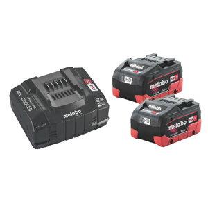 Basic set: 2 x 5.5 Ah LiHD batteries + ASC 145 charger SE, Metabo