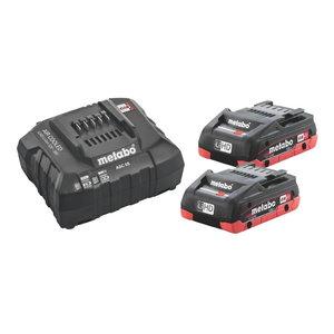 Basic set: 2 x 4.0 Ah LiHD + charger ASC 55 SE, Metabo