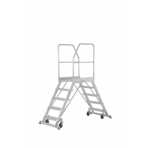 Mobile stockers ladder 2x7 steps, 1,7m, 6889, Hymer