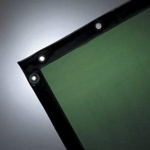 Suvirinimo užuolaida 174x174 cm, tamsiai žalia, VLAMBOOG