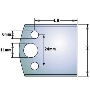 Profiiltera blankett b=40mm