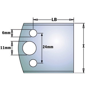 PAIR KNIVES KSS 40x4mm -BLANK-, CMT