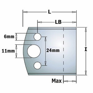 Frezavimo peiliai KSS 50x4 mm, CMT