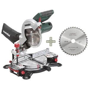 Skersinio pjovimo KS 216 M Lasercut + diskas 628060000&MET, Metabo