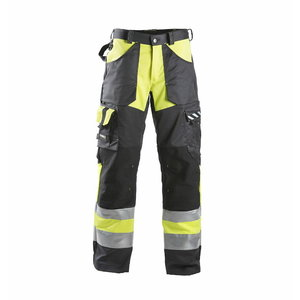 Hi. vis trousers  698  black/yelow, Dimex