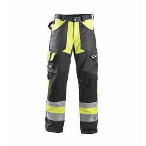 Hi. vis trousers  698  black/yelow 52, Dimex