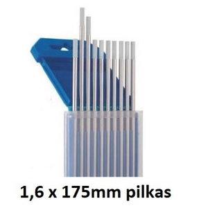 Volframinis elektrodas WC20 1,6x175mm pilkas