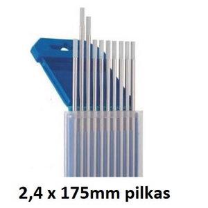 Volframinis elektrodas WC20 2,4x175mm pilkas, Binzel
