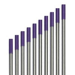Volframa elektrods E3 2,4 x 175 mm, violets, Binzel