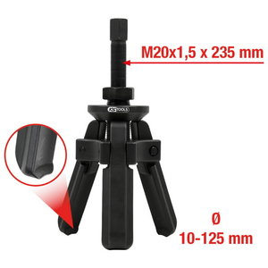 Kandelaagri tõmmits 3-haara 10-125mm 6-osa, KS Tools