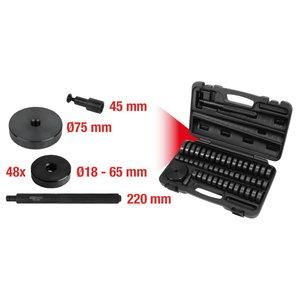 Guolių ir  įvoriųkomplektas 51-vnt 18-65mm, KS Tools
